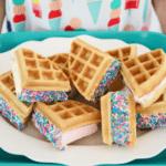 Easy Semi-Homemade Waffle Ice Cream Sandwiches