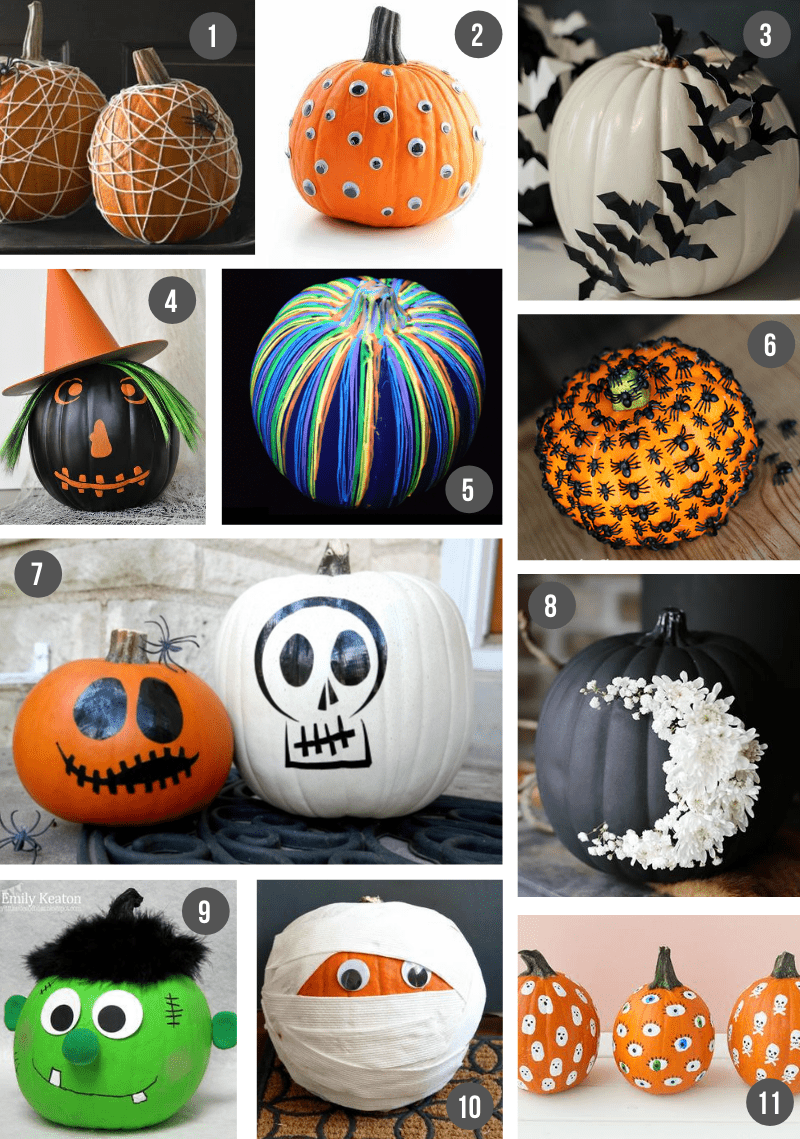 70 Creative No Carve Pumpkin Decorating Ideas For Kids What Moms Love