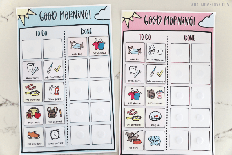 Printable Morning Routine Chart for Kids