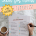 self-care printable checklist