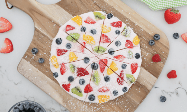 Healthy Frozen Yogurt Fruit Bark Pizza Recipe