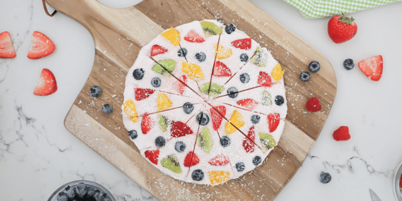 Healthy Frozen Yogurt Fruit Bark Pizza Recipe