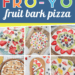How to make healthy Frozen Yogurt Bark Pizza with fresh fruit. Makes an easy, fun snack or treat for kids. Great recipe for picky eaters & toddlers!