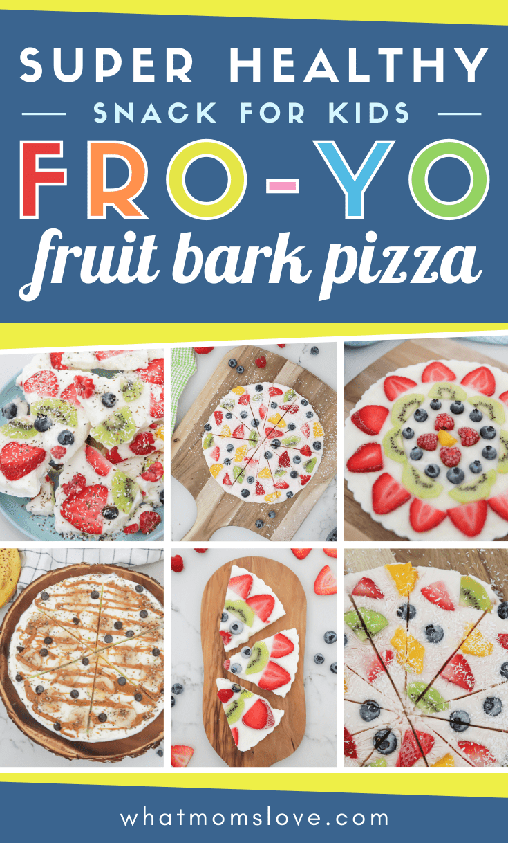 Frozen Yogurt Fruit Bark Pizza - Healthy snack for kids