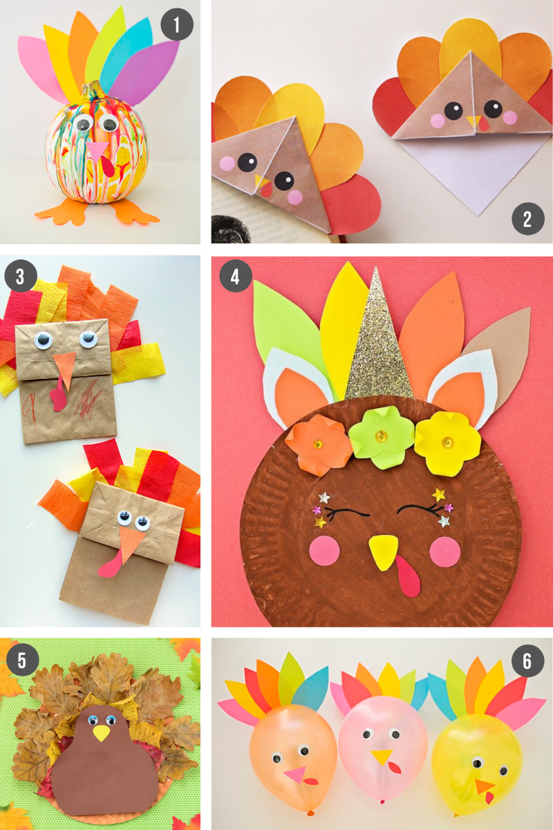 Paper Easy Thanksgiving Crafts