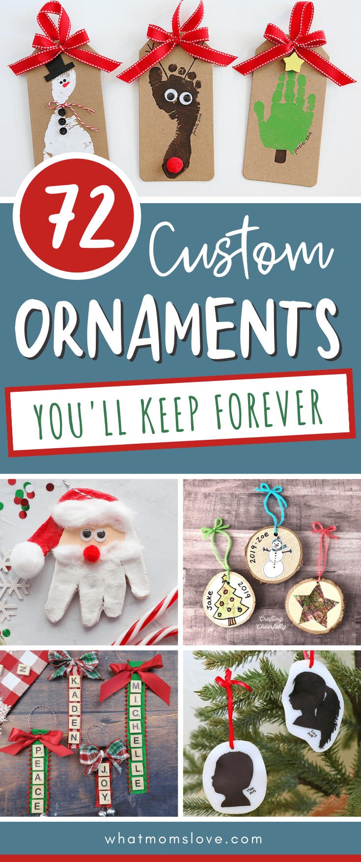 DIY Personalized Ornaments kids can make