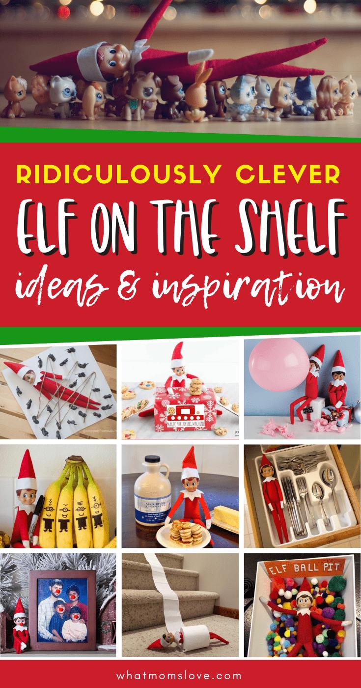 Elf on the Shelf set-up photos