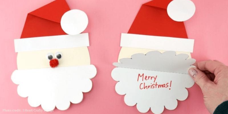 50 Homemade DIY Christmas Cards for Kids To Make