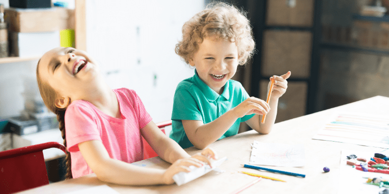 kids laughing at school