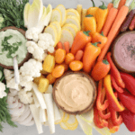 Rainbow Veggie Tray with Easy Dips – The Perfect Party Platter!