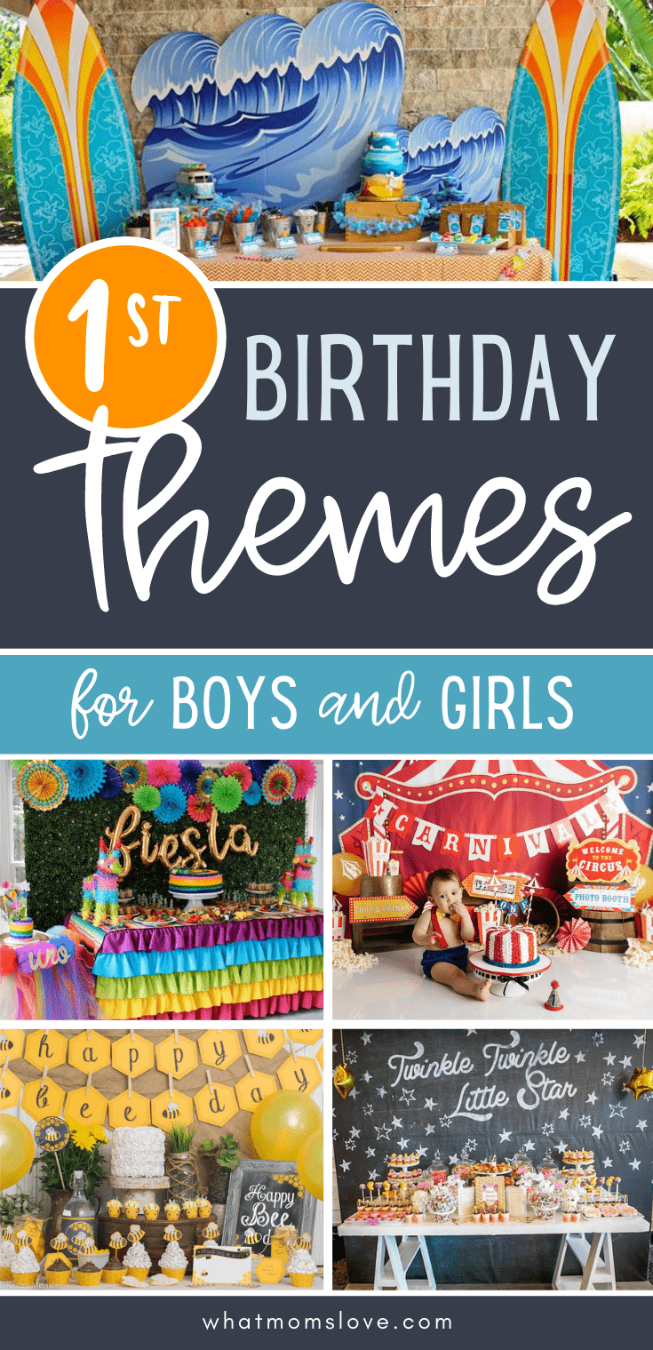 First Birthday Party Theme Ideas for boys and girls